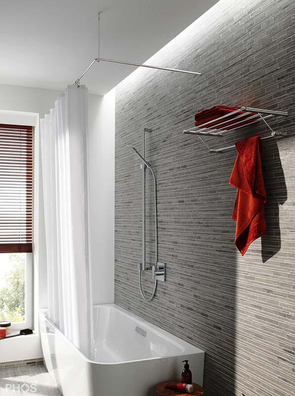 Duschvorhangstange Für Badewanne : duschvorhangstange aus edelstahl f r badewanne dusche ~ Watch28wear.com Haus und Dekorationen