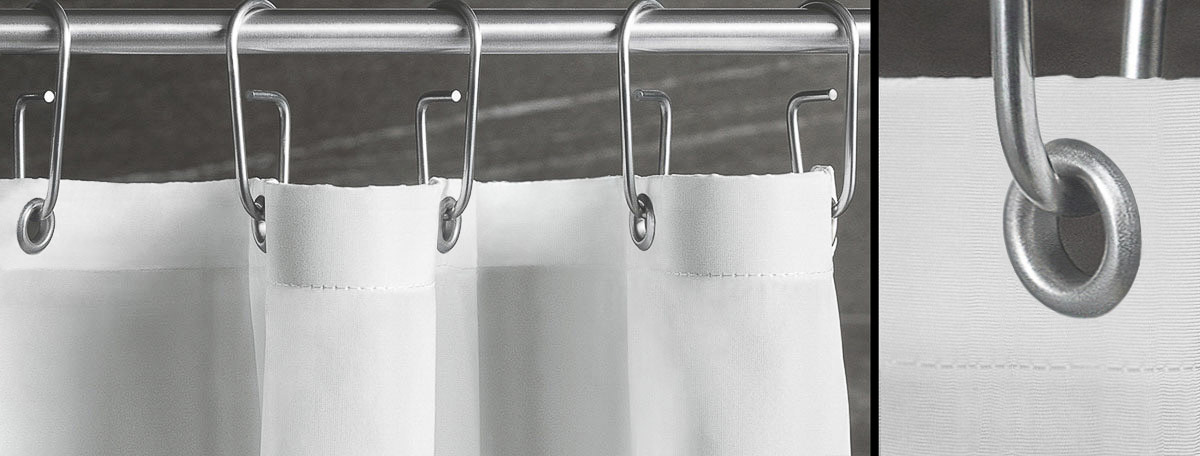 Luiz Hürth duschvorhänge phos edelstahl design