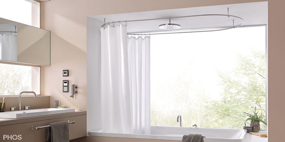 duschvorhangstange f r badewanne vo28 hitoiro. Black Bedroom Furniture Sets. Home Design Ideas
