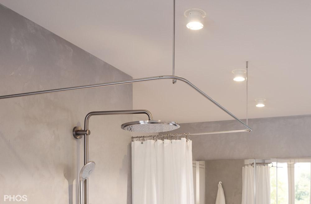 duschvorhangstange aus edelstahl cns f 252 r badewanne dusche