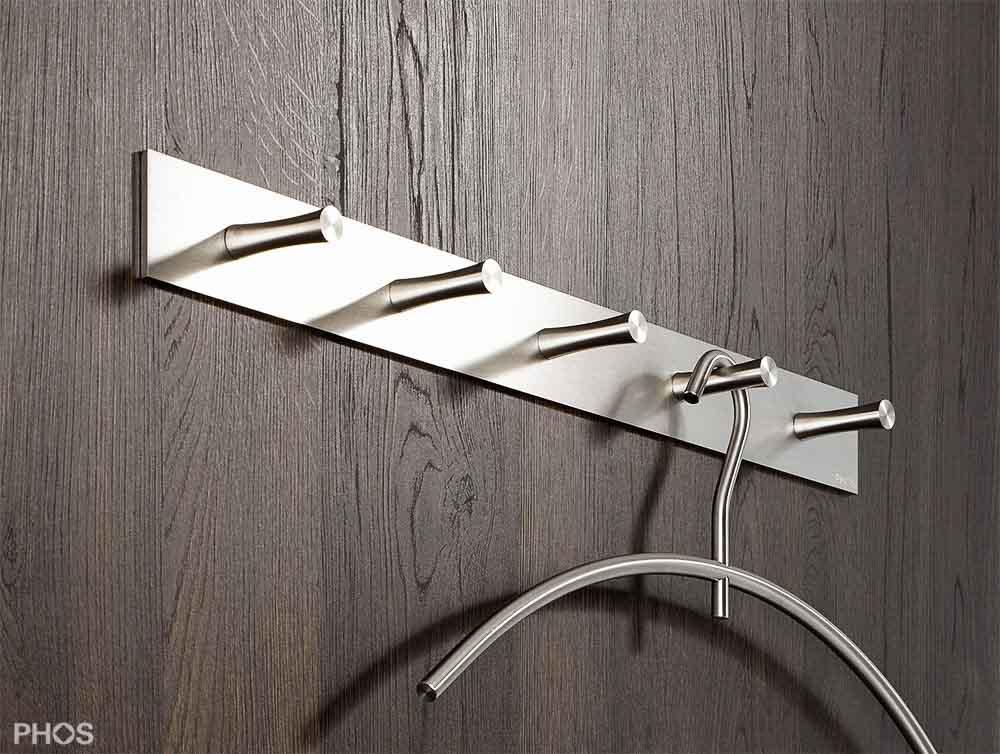 Garderobenleiste und hakenleiste in edelstahl for Garderobenleiste 100 cm