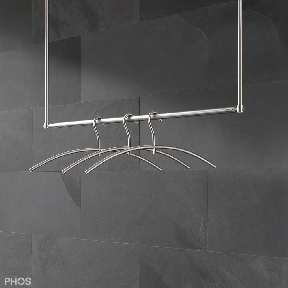 Kleiderstange Deckenmontage hängegarderobe aus edelstahl cns deckengarderobe