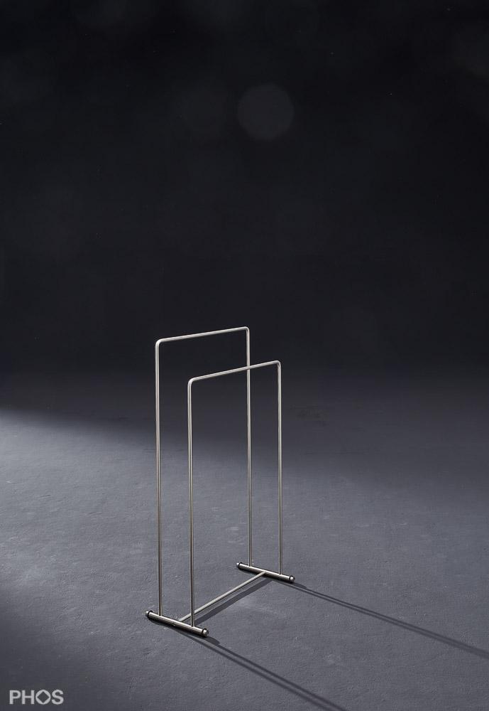 Handtuchständer in zeitlosem Edelstahl Design
