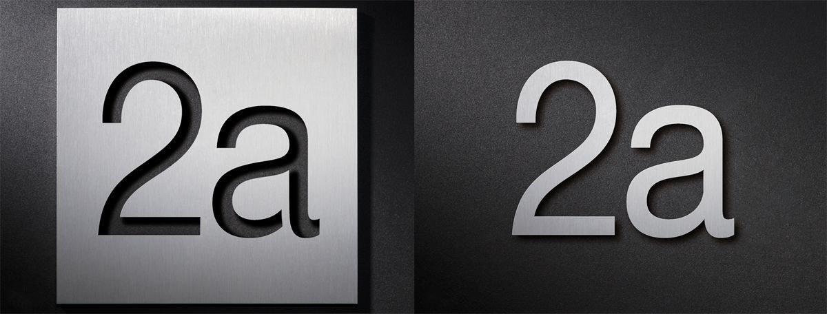 hausnummern aus edelstahl in verschiedenen gr en und varianten. Black Bedroom Furniture Sets. Home Design Ideas