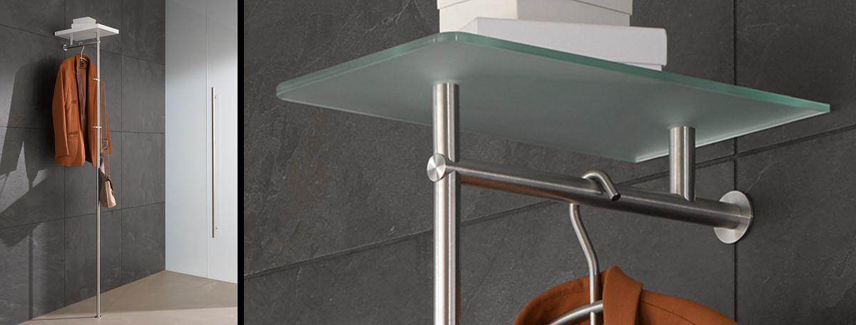 kleiderstander holz edelstahl. Black Bedroom Furniture Sets. Home Design Ideas
