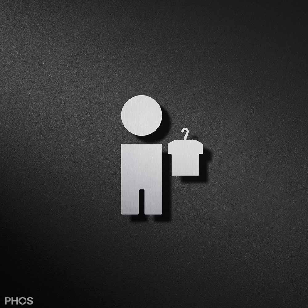 Wc piktogramme als t rschild for Garderobe junge