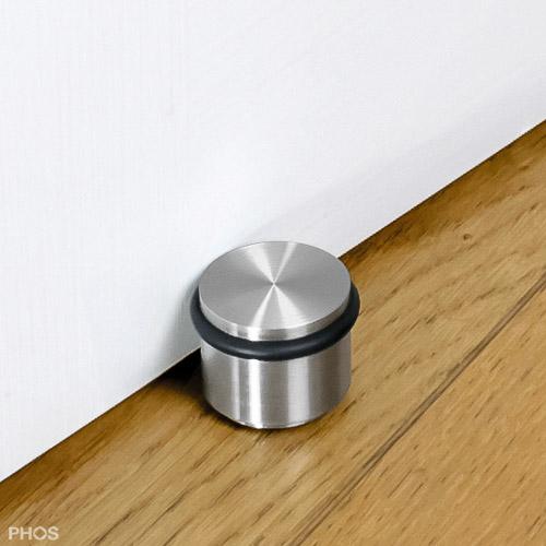 Edelstahl Extra langer Türstopper mit Gummi Türpuffer zur Bodenmontage