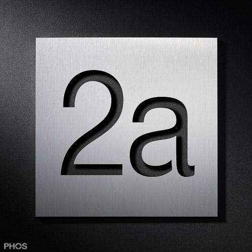 Großartig Hausnummern aus Edelstahl in verschiedenen Größen und Varianten OS01