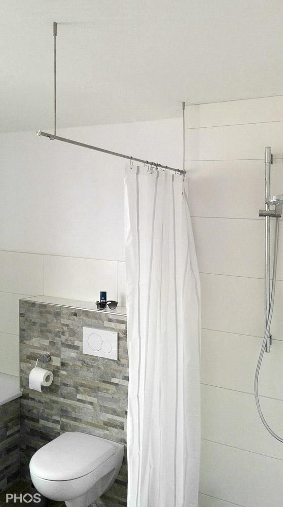 duschvorhangstange edelstahl f r dusche badewanne. Black Bedroom Furniture Sets. Home Design Ideas