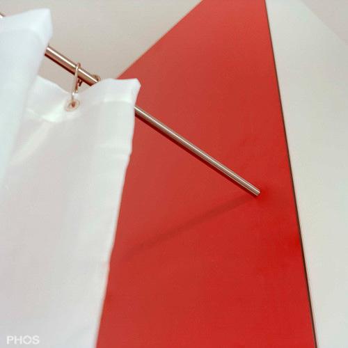 duschvorhangstange edelstahl l f rmige eckl sung mit s. Black Bedroom Furniture Sets. Home Design Ideas