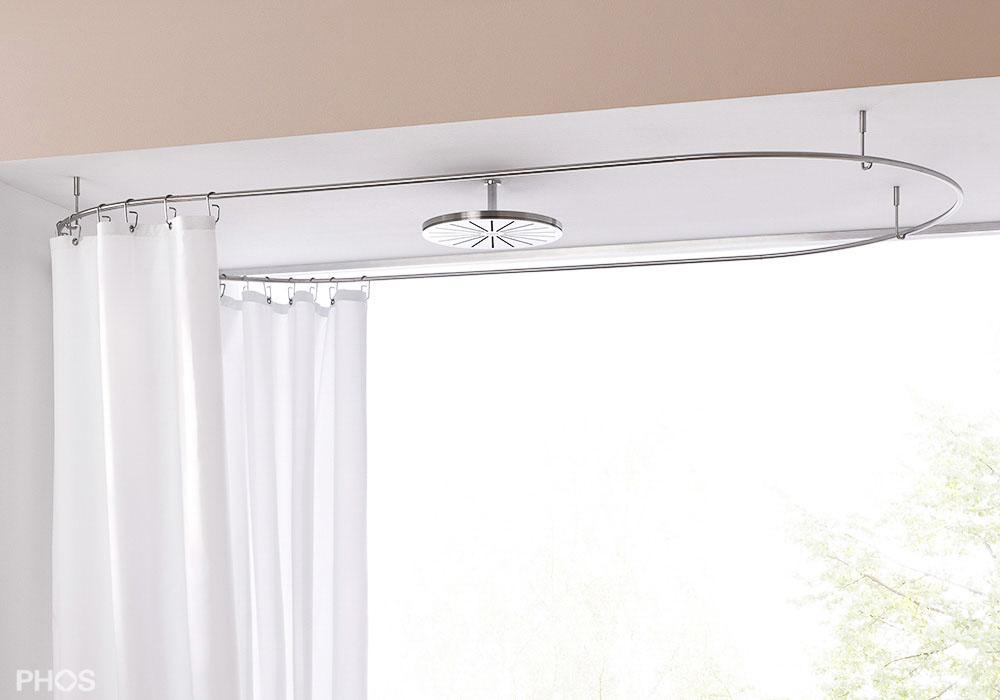 duschvorhangstange aus edelstahl cns f r dusche badewanne. Black Bedroom Furniture Sets. Home Design Ideas
