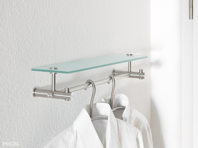 flurgarderobe nischengarderobe edelstahl design g9 500. Black Bedroom Furniture Sets. Home Design Ideas