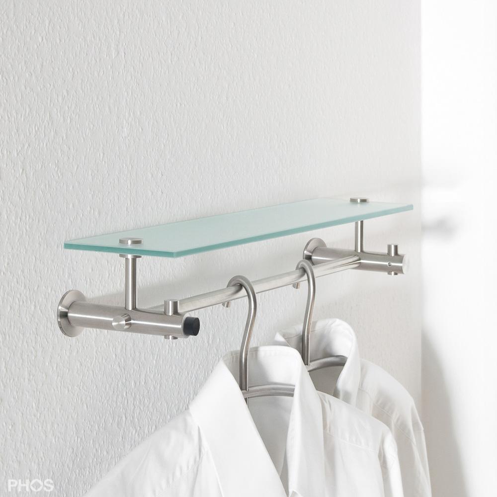 flurgarderobe nischengarderobe edelstahl design g9 500 einseitig mit optionalem t rstopper. Black Bedroom Furniture Sets. Home Design Ideas