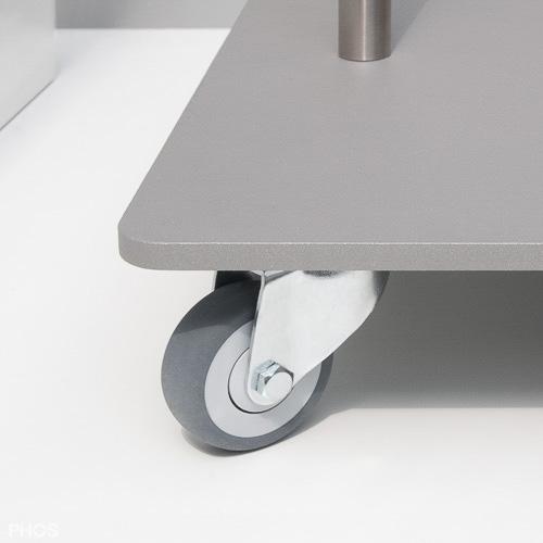 garderobenwagen gw1 detailfoto der lenkrolle. Black Bedroom Furniture Sets. Home Design Ideas