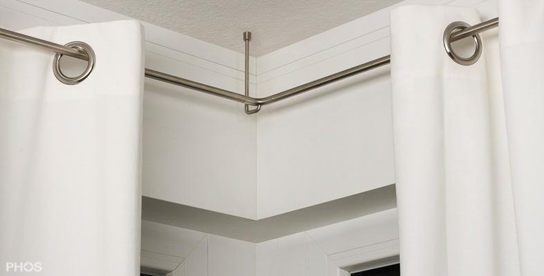 vorhangstange und gardinenstangen aus edelstahl. Black Bedroom Furniture Sets. Home Design Ideas