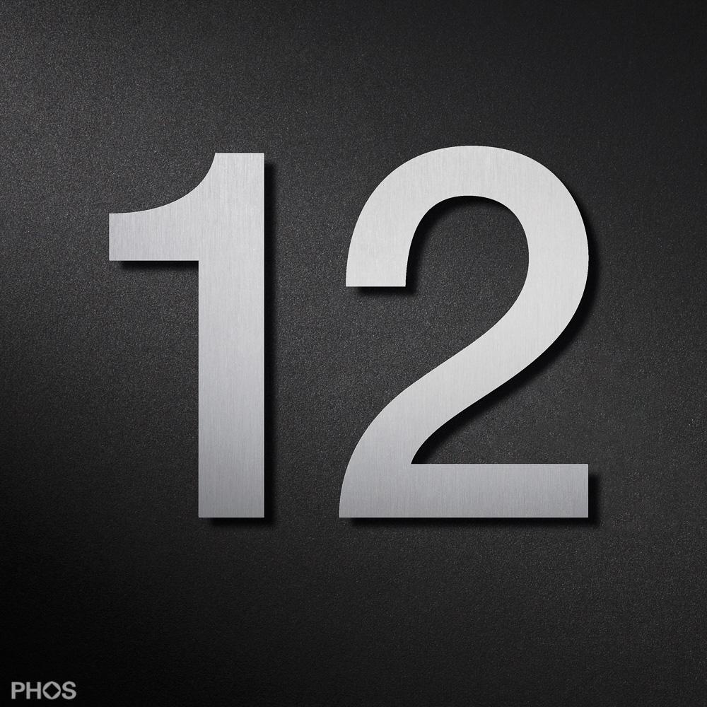 Interessant Hausnummern aus Edelstahl in verschiedenen Größen und Varianten RE33