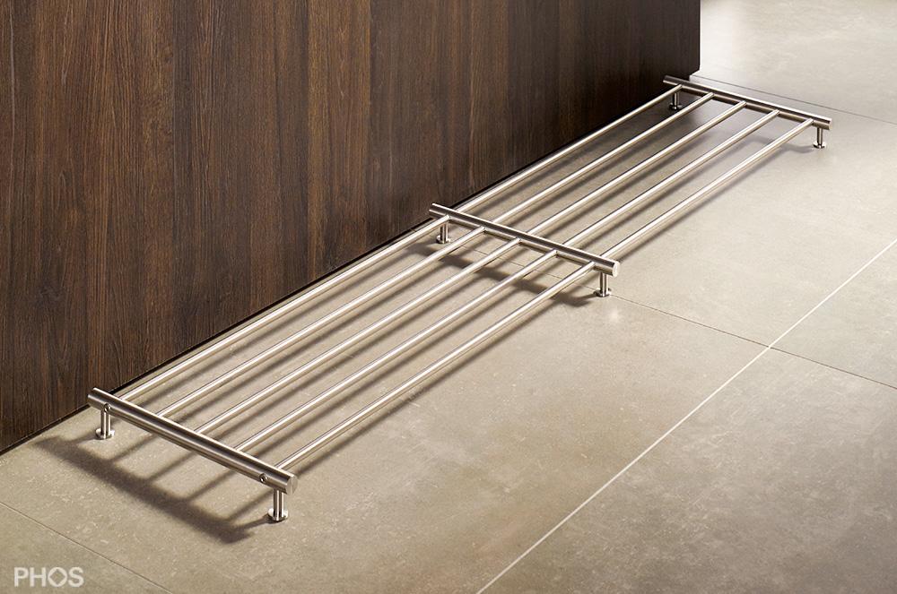 design schuhregal aus edelstahl cns f r ihre schuhe. Black Bedroom Furniture Sets. Home Design Ideas