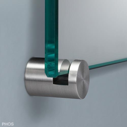 Spiegel An Wand Befestigen ~ Spiegelhalter Edelstahl (CNS)  Glashalter und Spiegelhalter