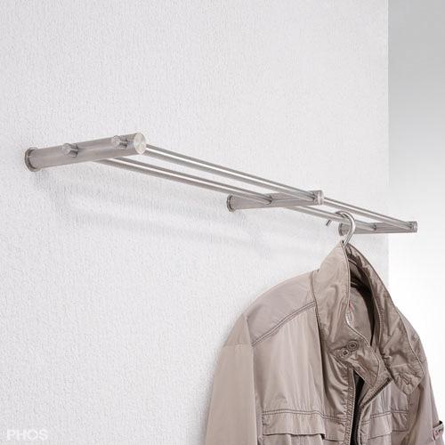 wandgarderobe kleiderstange edelstahl design g7 1200. Black Bedroom Furniture Sets. Home Design Ideas