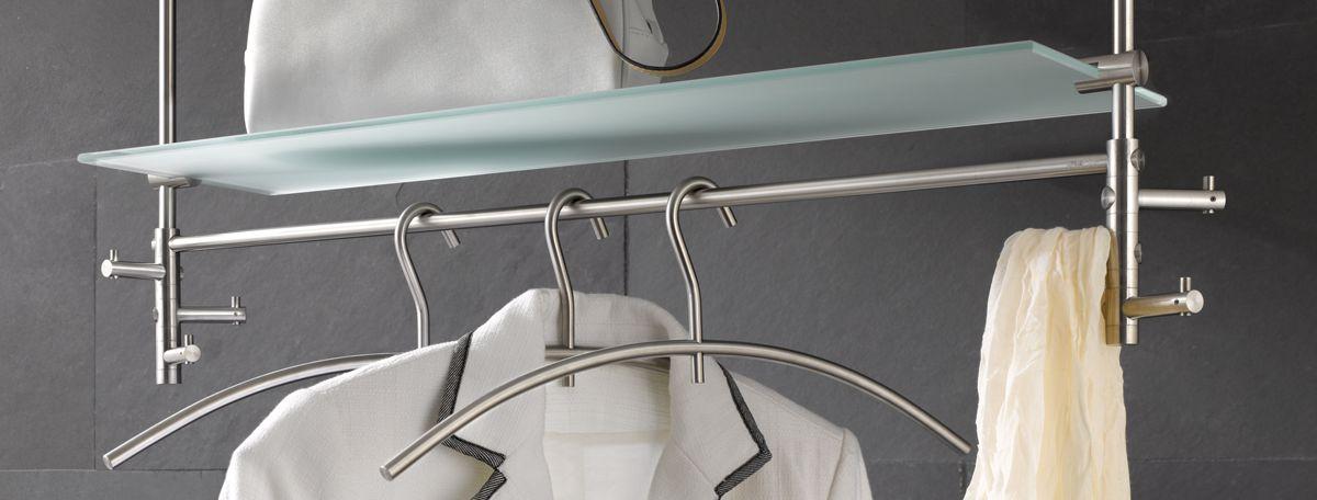 Garderobe edelstahl design amazing edelstahl design for Flur garderobe glas edelstahl