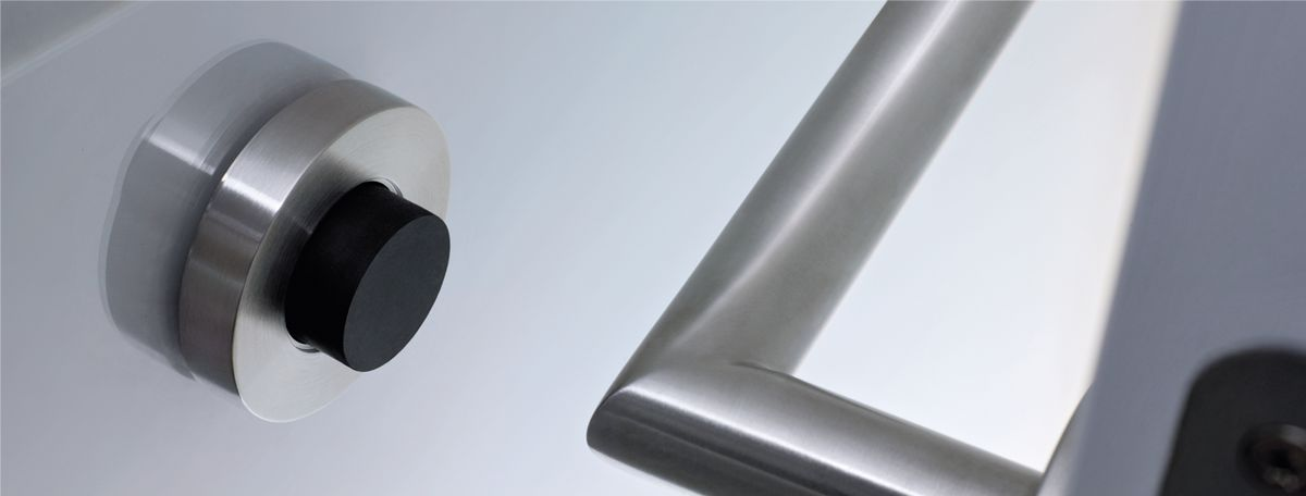 t rstopper f r boden und wand aus edelstahl cns matt. Black Bedroom Furniture Sets. Home Design Ideas