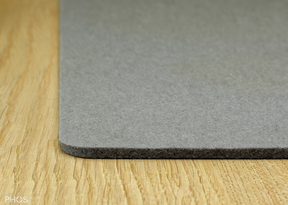 Filzauflage für Schuh- und Sitzbank, Farbe: Taupe, Breite: 143 cm