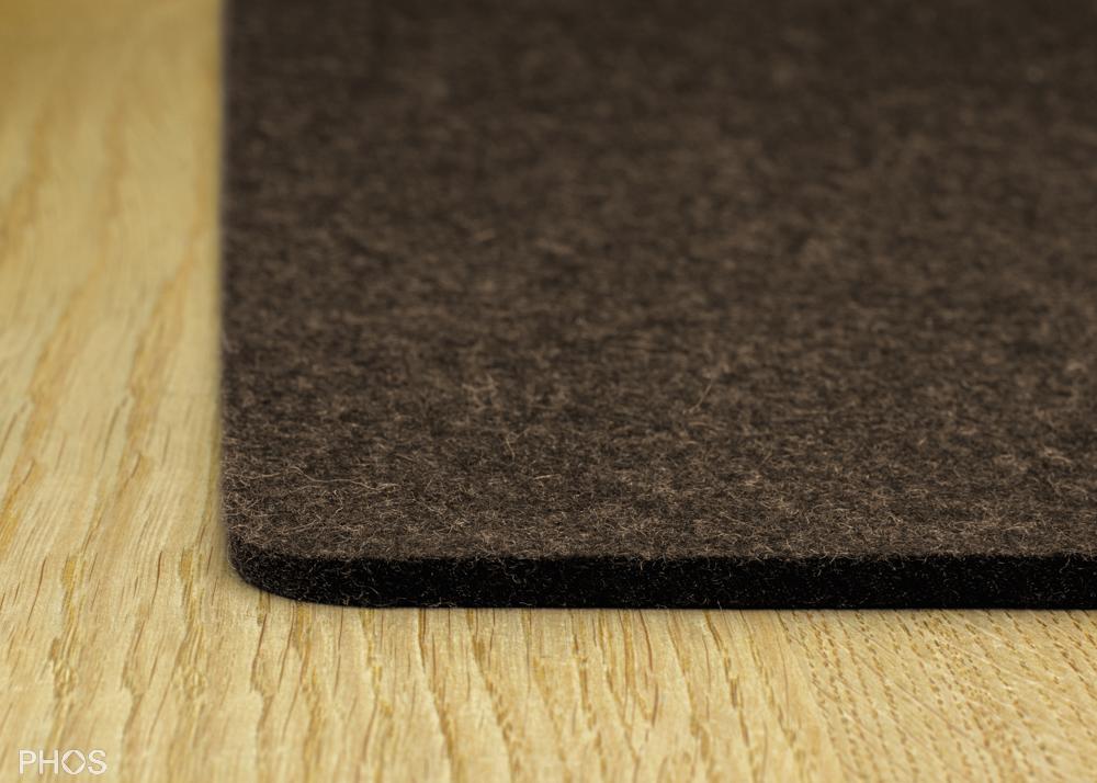 Filzauflage für Schuh- und Sitzbank, Farbe: Pepper, Breite: 143 cm