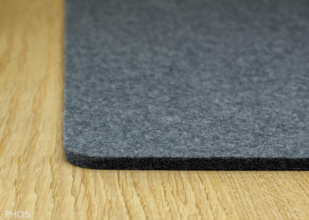Filzauflage für Schuh- und Sitzbank, Farbe: Anthrazit, Breite: 143 cm