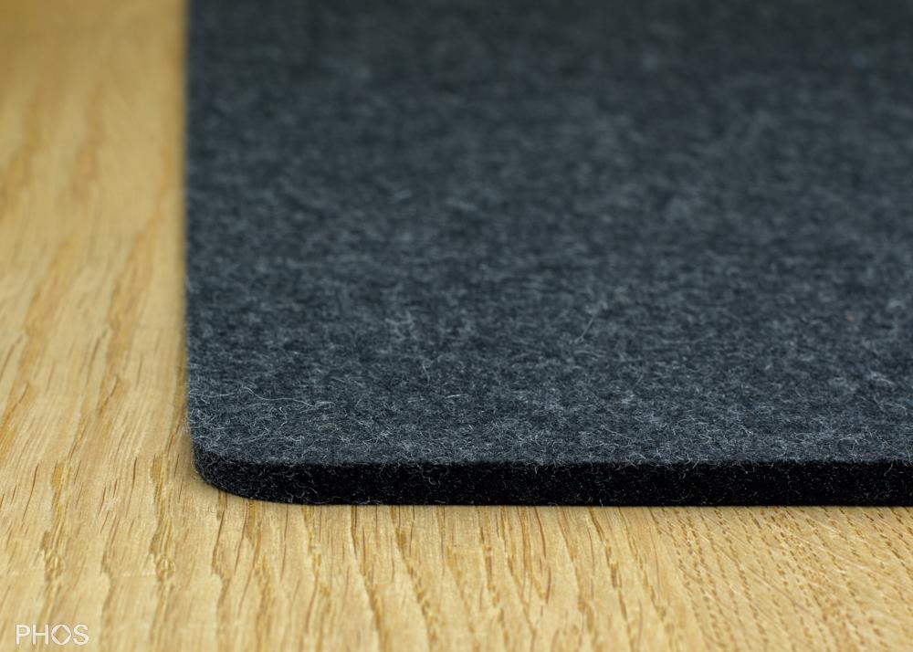 Filzauflage für Schuh- und Sitzbank, Farbe: Graphit, Breite: 143 cm