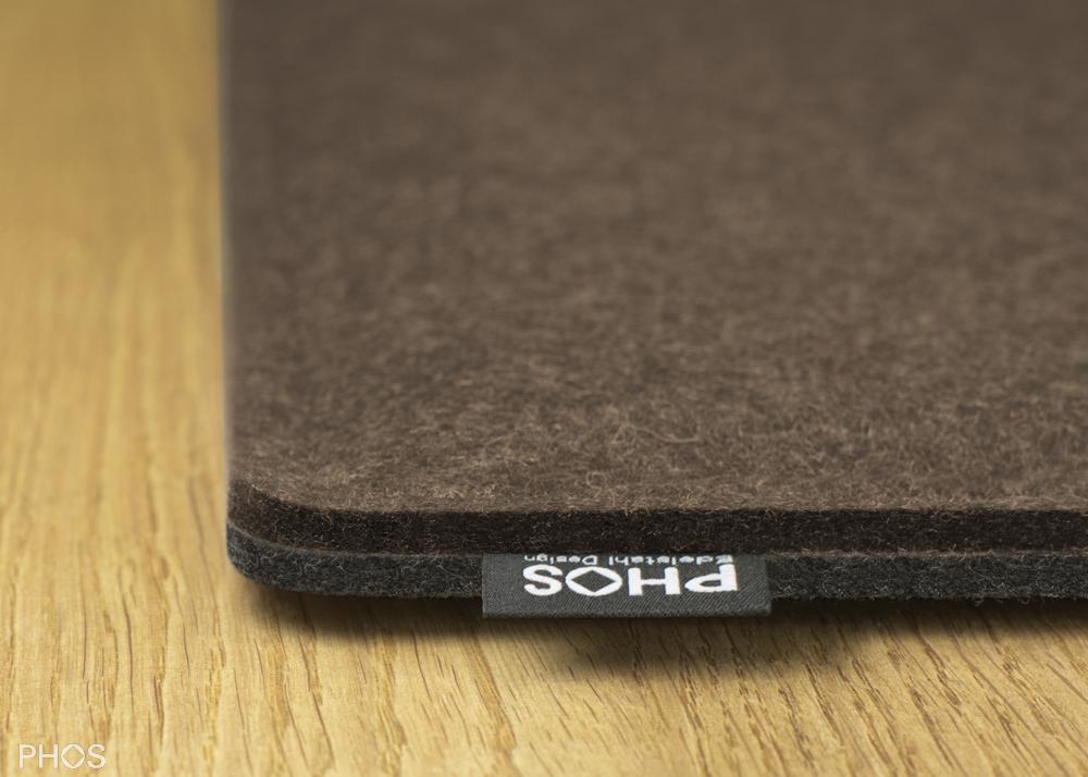Filzauflage für Schuh- und Sitzbank, Farbe: Pepper + Anthrazit, Breite: 143 cm