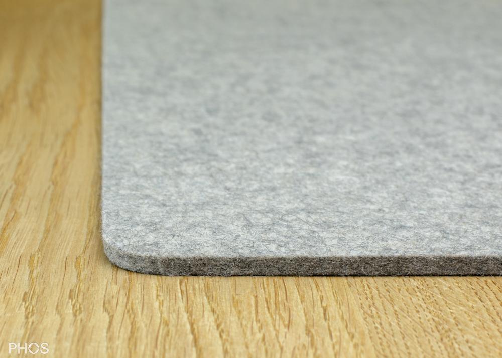 Filzauflage für Schuh- und Sitzbank, Farbe: Hellmeliert, Breite: 143 cm
